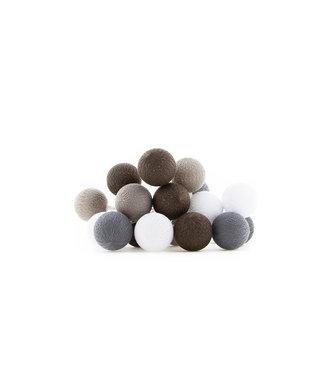 COTTON BALL LIGHTS Regular Outdoor Lichtslinger - Glamping Brown/Grey