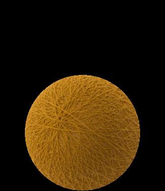 COTTON BALL LIGHTS Mustard 6 cm