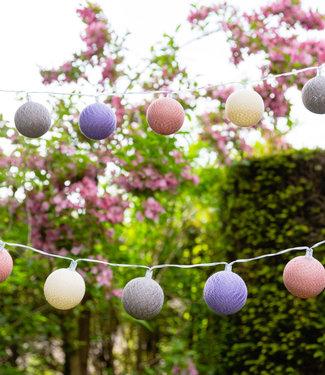 COTTON BALL LIGHTS Outdoor String Light - Lavanda
