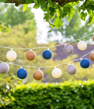 COTTON BALL LIGHTS Regular Outdoor Lichtslinger - Glamping Blue