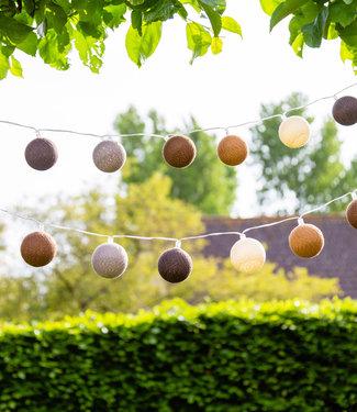 COTTON BALL LIGHTS Regular Outdoor Light String - Glamping Natural