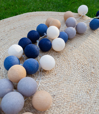 COTTON BALL LIGHTS Regular Lichtslinger - Glamping Blue