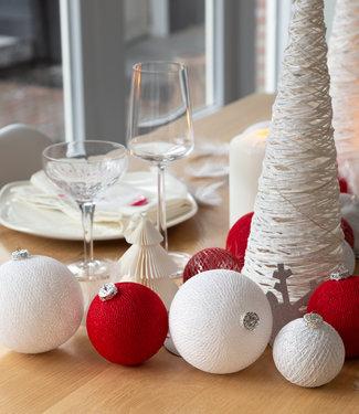COTTON BALL LIGHTS Kerstmis Cotton Balls - Merry Silver Premium
