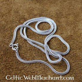 Silber verdrehte Halskette, 50 cm