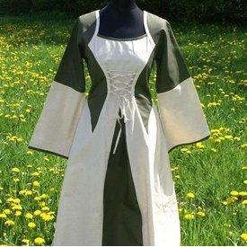 Kleid Morrighan (Grün-Weiß)