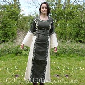 Kleid Cleena Grün-Weiß