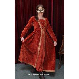 Kleid Borgia Rot