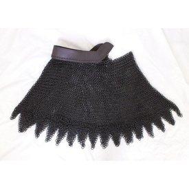 Kettenhemd Helmbrünne, gebräunte, 8 mm