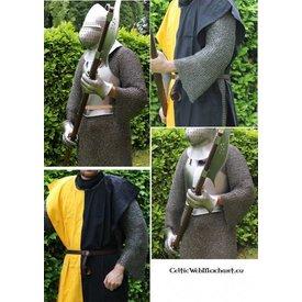 Ulfberth Kettenhemd mit langen Ärmeln, Flachringe-Rundnieten, 8 mm