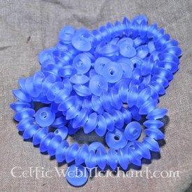 Blau Scheibe Perlen (Preis pro Stück)
