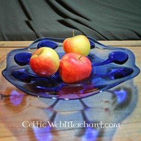 Gothic Glas Schüssel Blau
