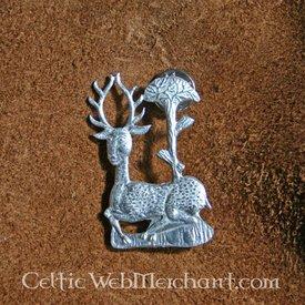 Mittelalterliche Rotwild und Baum Abzeichen