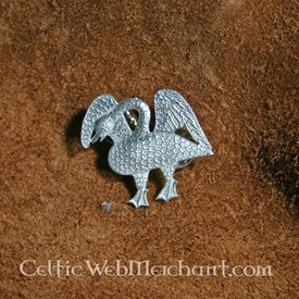 Mittelalterliche Abzeichen Schwan von Langegossener