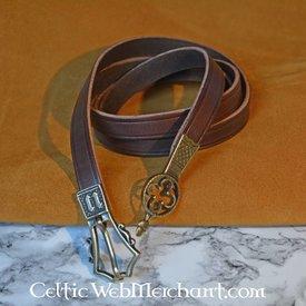 Gotischer Gürtel mit Gürtelendbeschlag, braun