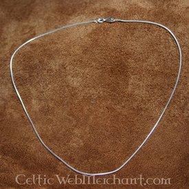 Silber Halskette, 1,2 mm, 45 cm