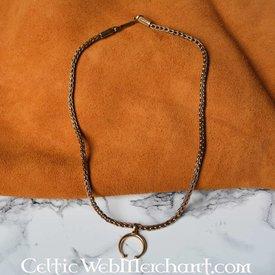 römisch lunula Halskette