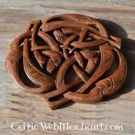 Holzcarving drei keltische Hunde