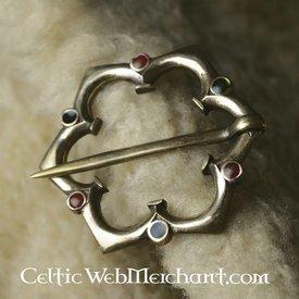 Gothic quatrefoil Brosche