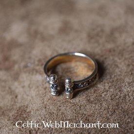 Wikinger Ring mit Spiralen, Bronze