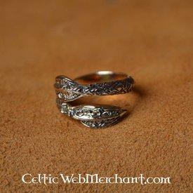 Wikinger Ring mit Speerspitzen Muster, Bronze