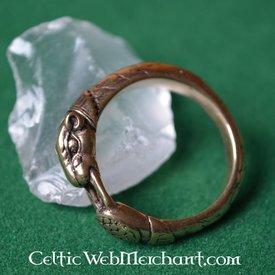 Wikinger Ring mit Hound Heads, Bronze