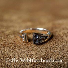 Wikinger Ring mit Rautenmuster, Bronze