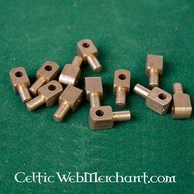Vervelles, Messing Pins für bascinet Helme und Rüstung, Satz von 12