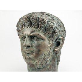 Bronzierte Büste Kaiser Nero