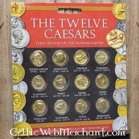 Römische Münze gesetzt Aureus