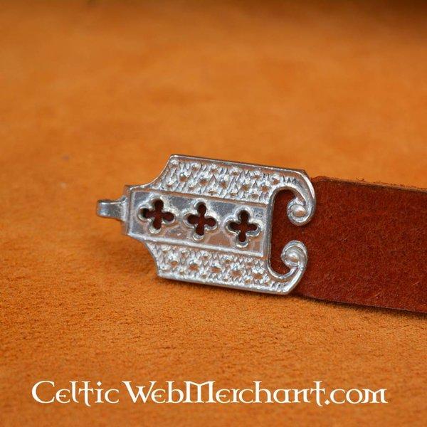 15. Jahrhundert Gürtel mit Zinn Fitting