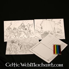 Set Farbeing Postkarten Viking