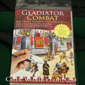Rubbelbilder (mit Panorama) Gladiator Kampf