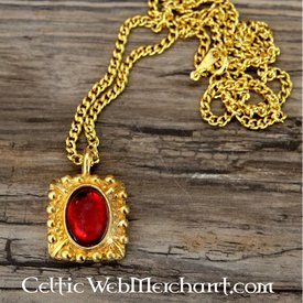 Tudor Halskette Elisabeth, roter Edelstein, Gold