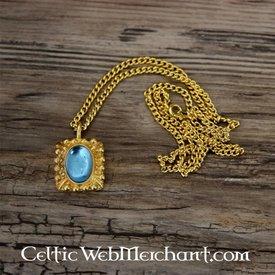 Tudor Halskette Elisabeth, Blau Edelstein, Gold