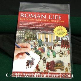 Rubbelbilder (mit Panorama) römisch Forum