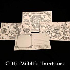 Set Farbeing Postkarten Kelten