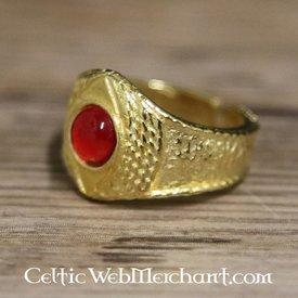 Gilded mittelalterlicher Ring