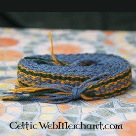 Wollband, Blau - Gelb - Grün