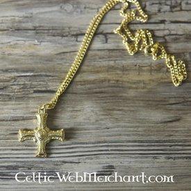 Cuthbert Kreuz vergoldet Zinn