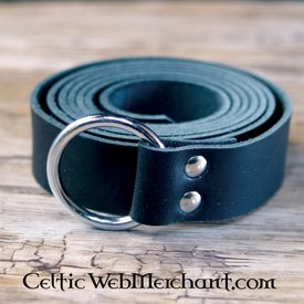 House of Warfare schwarzes Leder Ringband, 170 cm