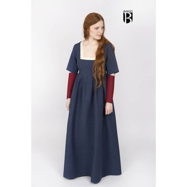 Burgschneider Ärmel mittelalterlich Kleid Frideswinde Rot