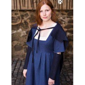 Burgschneider Ärmel mittelalterlich Kleid Frideswinde Blau