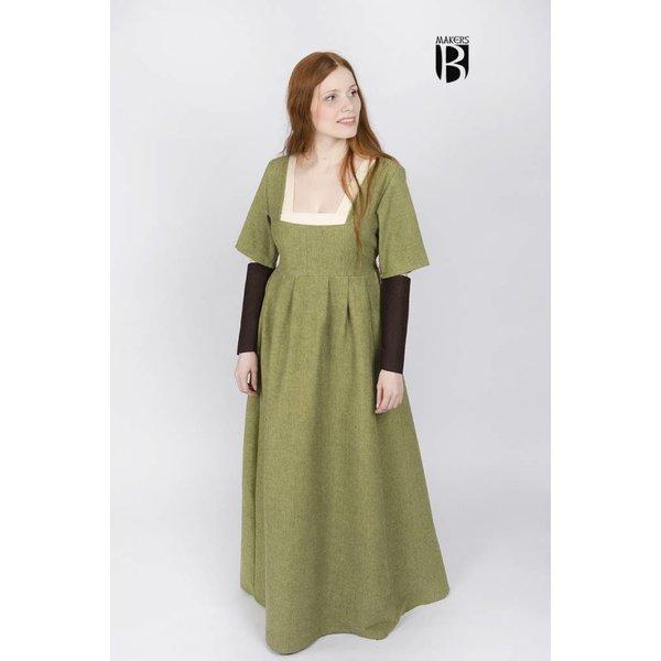 Burgschneider Ärmel mittelalterlich Kleid Frideswinde Braun