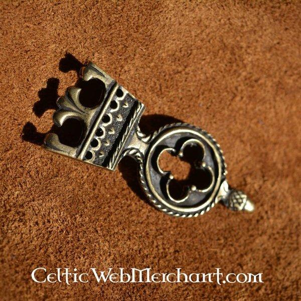 Gothisches Gürtelendbeschlag 3 cm, silberfarbe