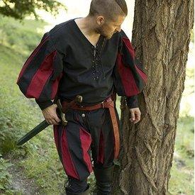 Epic Armoury Landsknecht Hemd, Schwarz / Rot