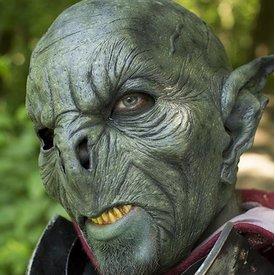 Epic Armoury Wilder Orc Maske Dunkeles Grün, LARP Mask