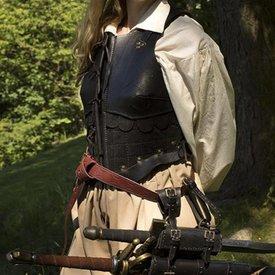 Epic Armoury Weiblich Leder Rüstung, Schwarz, LARP