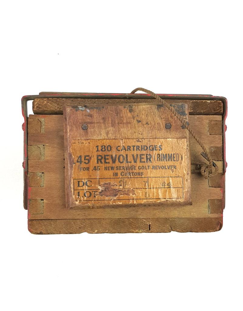 Britse WO2 Houten Revolver Munitie Kistje