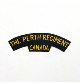 Perth Regiment Printed Shoulder Title