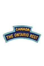The Ontario Regiment Printed Shoulder Title